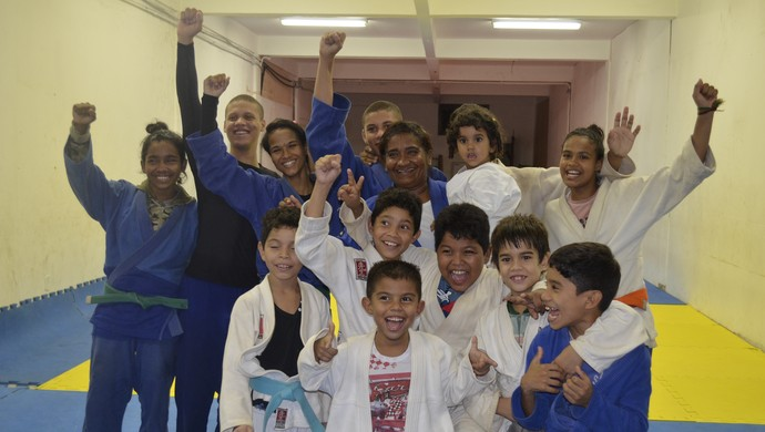Judoca amapaense Débora Maciel e família (Foto: Wellington Costa/GE-AP)