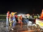 Colisão entre caminhões e carro deixa um morto e cinco feridos na SP-340