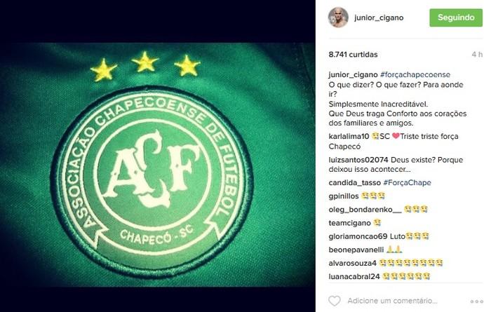 Junior Cigano Chapecoense (Foto: reprodução/Instagram)