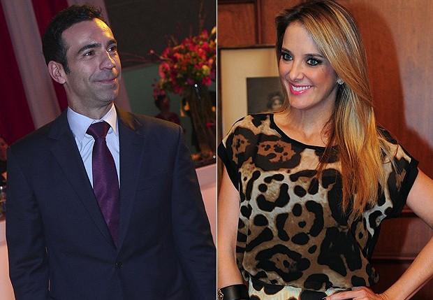 César Tralli e Tici Pinheiro (Foto: Revista QUEM e Agnews)