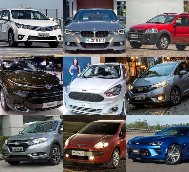 Carros mais vendidos de 2016 por categoria (Foto: Divulgação)