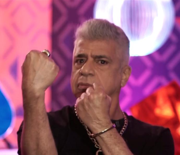 Lulu já tá pronto pro 'combate'! (Foto: TV Globo)