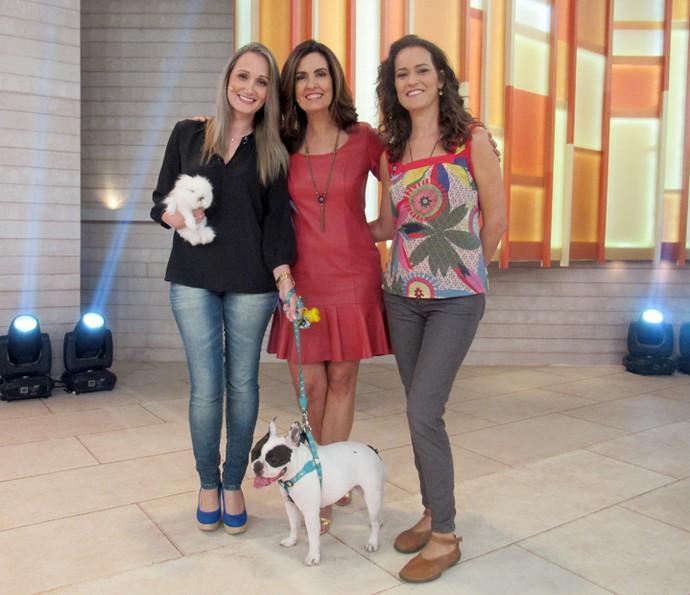 O programa falou dos cuidados com os cães no verão (Foto: Priscilla Massena/Gshow)
