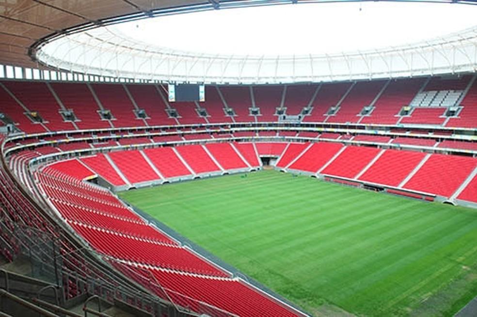 Estádio Nacional Mané Garrincha visto por dentro (Foto: Tony Winston/Agência Brasília)