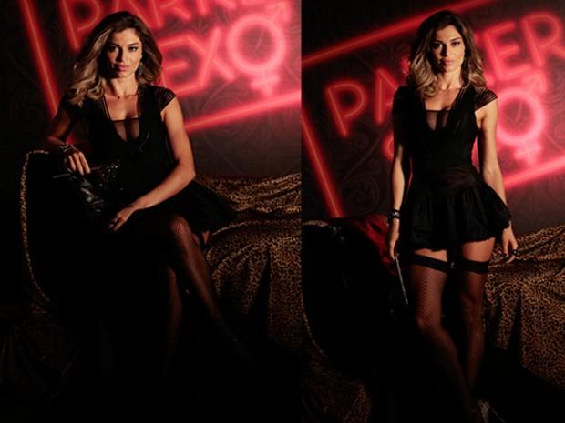 A loira vive uma apresentadora 'pra lá' de sexy  (Foto: Artur Meninea / TV Globo)