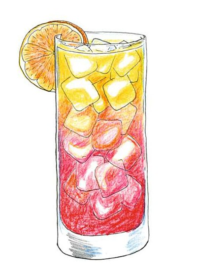 Tequila Sunrise (Foto: Ilustrações Daniel Almeida)