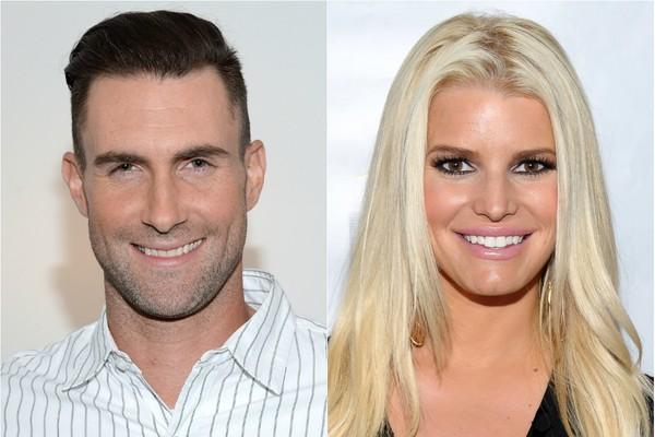 """Ironicamente, em 2006, o curto envolvimento entre Adam Levine e Jessica Simpson e terminou com uma fria mensagem do vocalista do Maroon 5, que dizia simplesmente: """"Muito ocupado. Preciso de espaço.""""  (Foto: Getty Images)"""