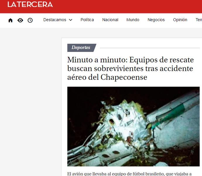 Chape La Tercera (Foto: Imagem)