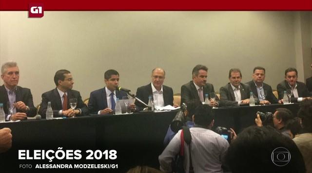 G1 em 1 Minuto: líderes do 'Centrão' oficializam apoio a pré-candidatura de Alckmin