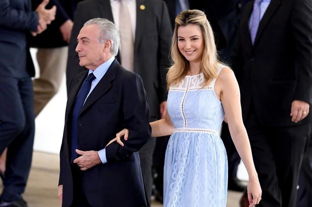 Marcela Temer usou vestido de R$1,6 mil em evento social, em Brasília (Foto: AFP)