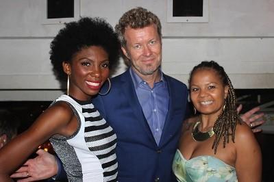 Késia Estácio, Magne Furuholmen (A-ha) e Jaqueline Martins
