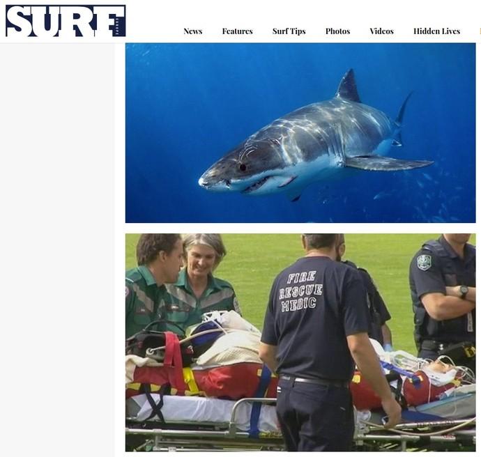 Surfista Chris Bolwes em estado crítico após ataque de tubarão de 6m na Austrália (Foto: Reprodução/surfeuropemag.com)
