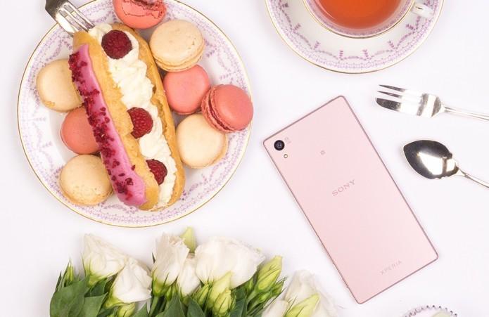 Sony apresenta nova versão rosa pink do seu top Xperia Z5 (Foto: Divulgação/Sony)
