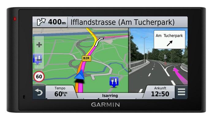 Sistema de navegação do NüviCam fornece orientações mais detalhadas e precisas (Foto: Divulgação/Garmin)
