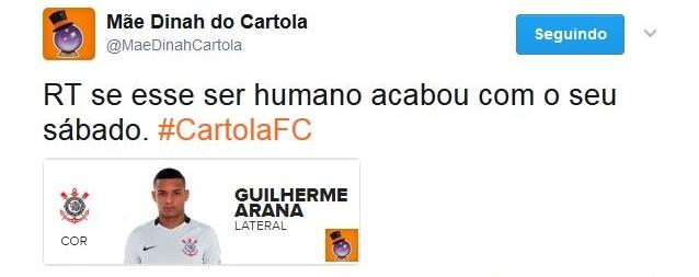 Guilherme Arana Reprodução Twitter Cartola (Foto: Reprodução)
