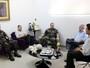 TV Clube recebe a visita do comando do 25º Batalhão de Caçadores
