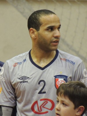 Dudu Joinville Futsal goleiro (Foto: João Lucas Cardoso)