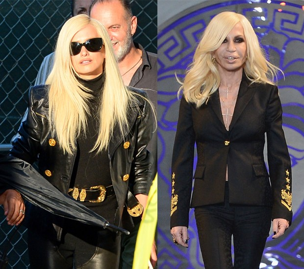 Penélope Cruz x Donatella Versace (Foto: AKM-GSI e Getty Images)