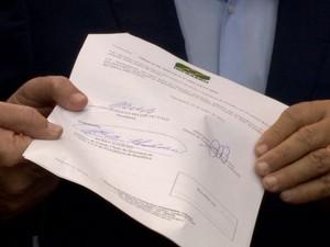 Ordem de serviço para a obra do Aeroporto de Vitória (Foto: Reprodução/ TV Gazeta)