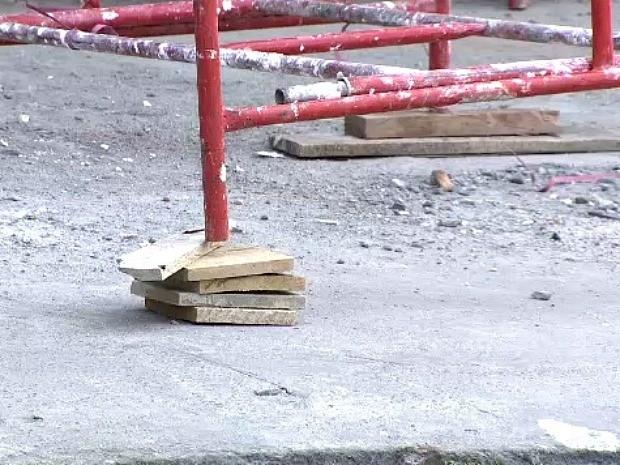 Para sindicato, local não é seguro para operários (Foto: Reprodução/TV Amazonas)