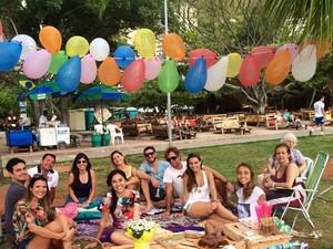 Andrea reuniu amigos e família no piquenique (Foto: Arquivo Pessoal)