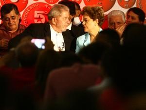 Lula e Dilma no congresso do PT (Foto: Lúcio Távora/Agência A Tarde/Estadão Conteúdo)