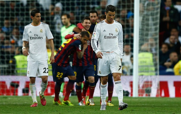 messi gol cristiano ronaldo barcelona x real madrid (Foto: Getty Images)