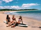 Angels Laís Ribeiro, Jasmine Tooke e Romee Strijd curtem dia de praia