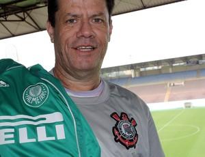 Locutor da Arena espera anunciar gols do Corinthians e fazer palmeirenses felizes (Foto: Cleber Akamine / globoesporte.com)