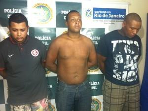 Trio acusado pelo crime (Foto: Lívia Torres/G1)