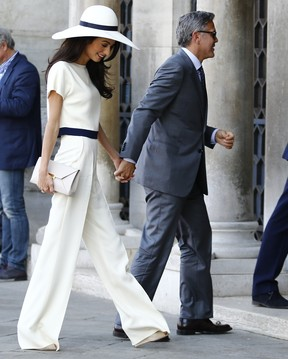 George Clooney e Amal Alamuddin  (Foto: Agência AFP)