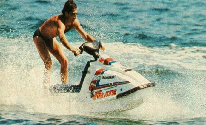 Ayrton Senna moto aquática jet ski Angra dos Reis (Foto: Reprodução)