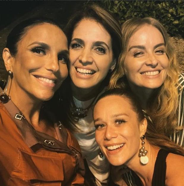 Ivete Sangalo, Poliana Abritta, Angélica e Mariana Ximenes (Foto: Reprodução/Instagram)