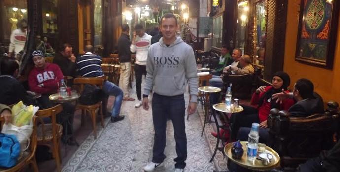 Anderson Nicolau, preparador físico brasileiro que trabalha no Iraque (Foto: Anderson Nicolau/Arquivo pessoal)