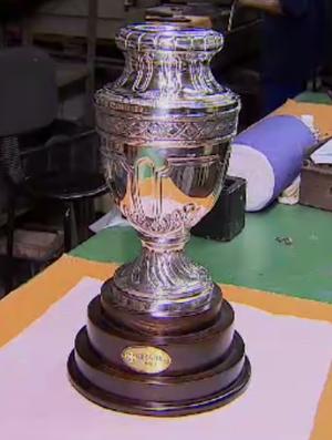 Copa América 1989; taça; restauração (Foto: Reprodução SporTV)