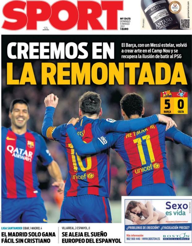 """BLOG: Jornais se animam com goleada do Barça e mandam recado ao PSG: """"Acreditamos"""""""