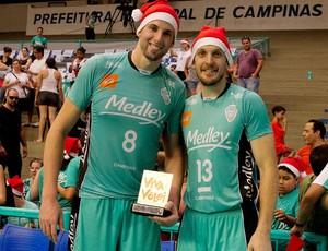 Gustavão e André Heller, jogadores do Campinas (Foto: Divulgação/MedleyCampinas)