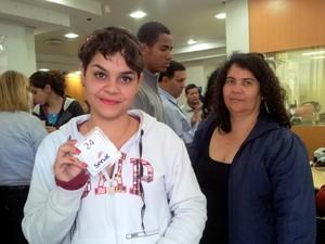 Júlia Rigoni, de 16 anos, que tenta uma vaga no curso de guia turismo (Foto: Fernanda Zanetti/G1)