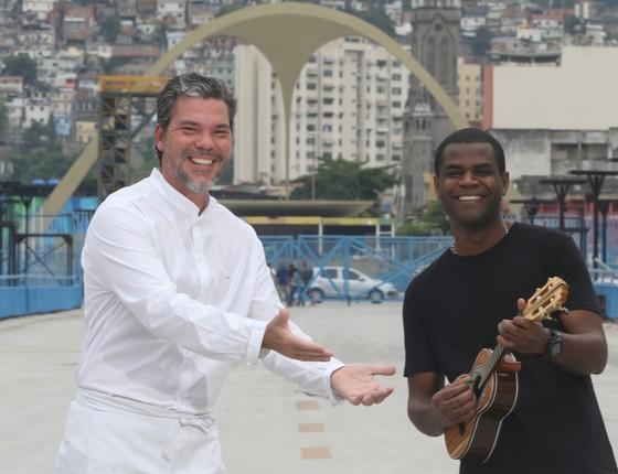 Pedro de Artagão e Pretinho da Serrinha: eles unem seus talentos durante o Carnaval (Foto: Eny Miranda)
