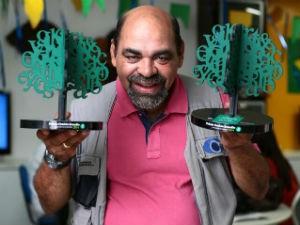 Falcon Barros recebeu 2 prêmios de jornalismo ambiental pela TV Gazeta (Foto: Divulgação/Jonathan Lins)