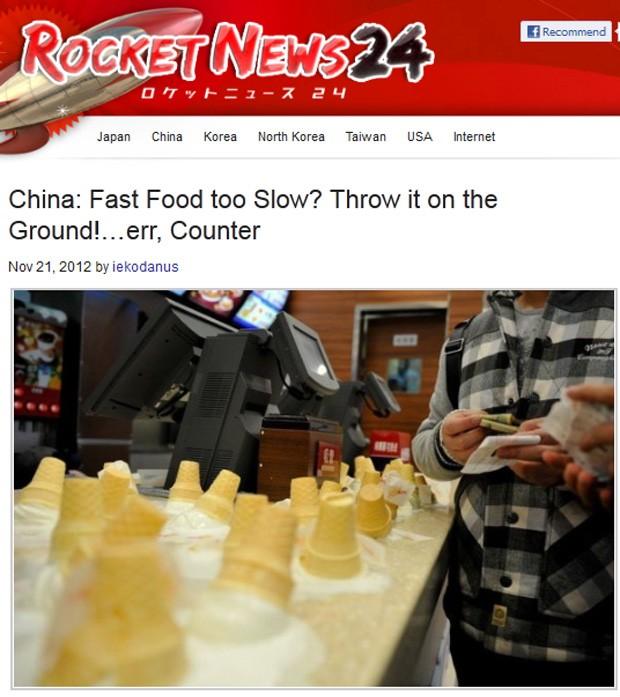 Balcão da loja ficou coberto de cones de sorteve (Foto: Reprodução/Rocket News)