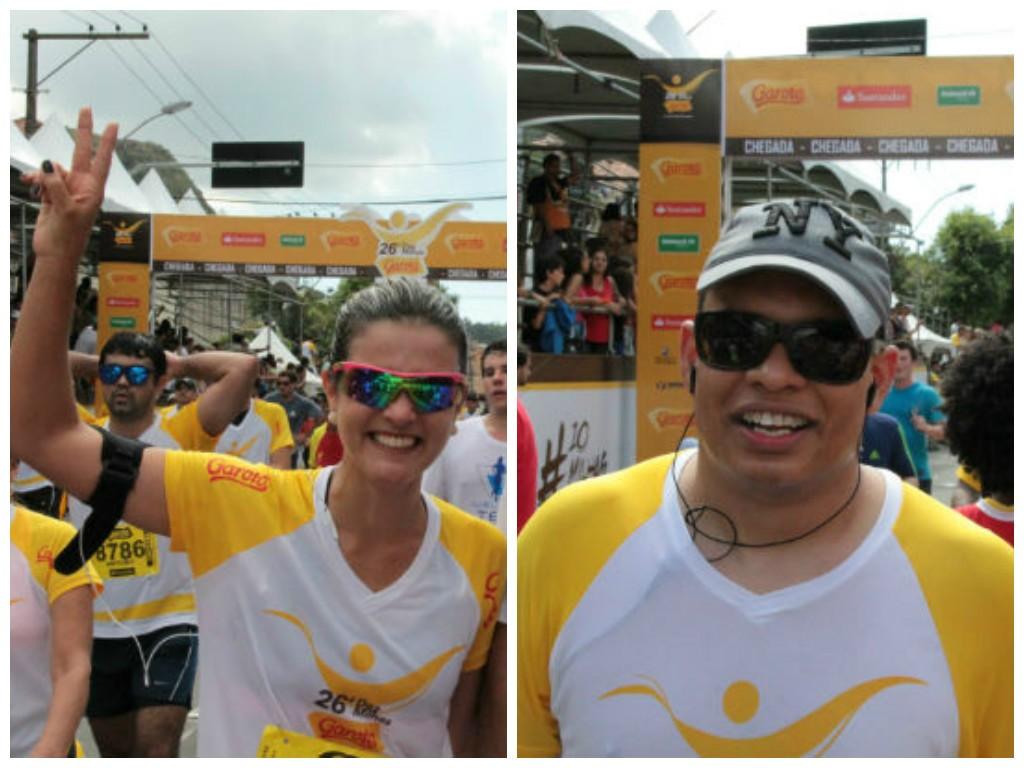 Os jornalistas da TV Gazeta Tatiane Braga e Roger Santana (Foto: Bruna Borjaille)