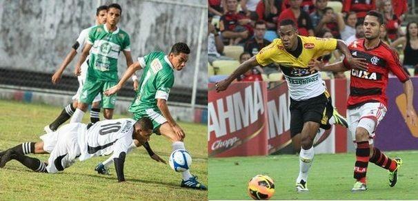 Coritiba e Flamengo se enfrentam neste domingo (Foto: Montagem / Globoesporte.com)