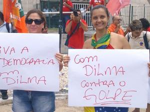 Manifestação em Fortaleza (Foto: G1)