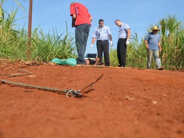 Homem morre eletrocutado em Piracicaba (Foto: Thomaz Fernandes/G1)