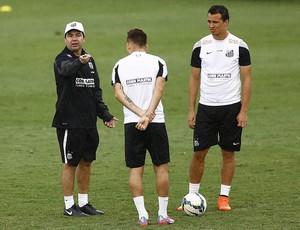 Enderson Oliveira Lucas Lima e Leandro Damião (Foto: Ricardo Saibun/ Santos FC)