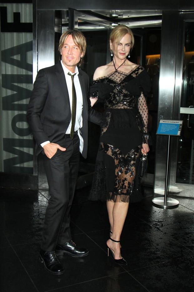 Keith Urban e Nicole Kidman na pré-estreia do filme Genius, em Nova York (Foto: AKM-GSI Brasil)