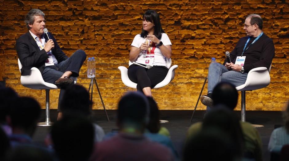 Sylvio de Barros, Fernanda Romano e Ghilherme Horn: fundadores de empresas e investidores  (Foto: Ricardo Cardoso)
