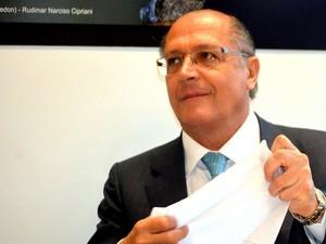 Governador Geraldo Alckmin (PSDB) em visita a Campinas (SP) (Foto: Marcelo Carvalho / G1)