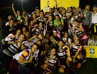 Ferroviária campeã da Copa do Brasil de Futebol Feminino (Foto: Claudio Capucho/PMSJC)